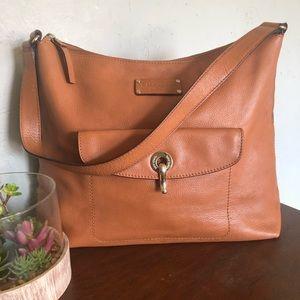 ♠️ Kate Spade - Caramel Leather Shoulder Bag Purse